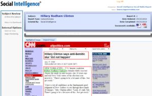 Social Intelligence – Hilary Fails the Social Media Screening