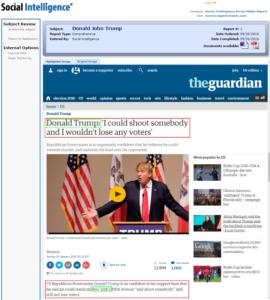Social Intelligence – Trump Social Fails Media Background Check