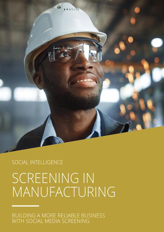 Cover screening in manufacturing ebook